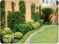 Promociones en verde y naranja for Decoracion de jardines exteriores fotos